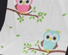 Crochet Pattern Baby Blanket Pattern Baby Owls by PatternWorldUK Crochet Afghans, Crochet Owls, C2c Crochet, Manta Crochet, Crochet Blanket Patterns, Baby Blanket Crochet, Crochet Crafts, Crochet Projects, Knitting Patterns