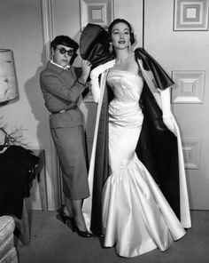 "mattadoresit: ""Edith Head with a gown for Lucy Gallant """