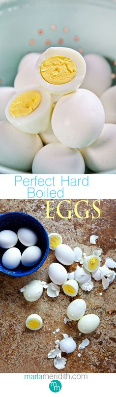 How to: Perfect Hard Boiled Eggs | MarlaMeridith.com