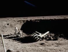 Recently released, and previously classified NASA files, of structures on the Moon