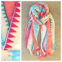Geometric Summer Scarf <3 #pastel #summerscarf #chevron