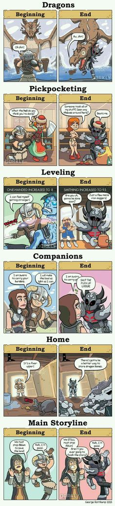 Skyrim: Beginning vs. End