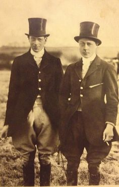 At a point-to-point race with his brother the Duke of Kent