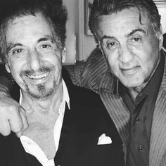 Al Pacino and Sylvester Stallone