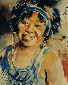 Brian Baxter: Ma Rainey William Christopher, Blues, Portraits, Concept, Artwork, People, Painting, Work Of Art, Auguste Rodin Artwork