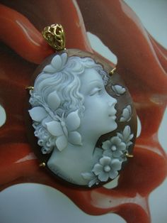handcarved cameo mm 50 Sardonyx shell