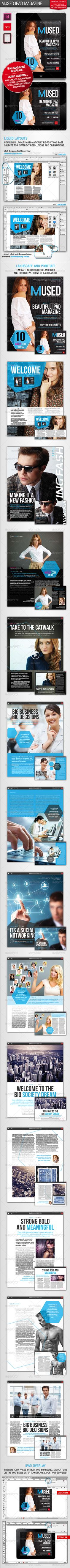Mused iPad Magazine  Horizontal and vertical layouts in one