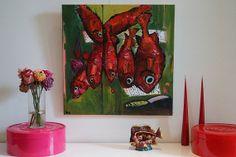 Acrylic painting on canvas 23.6 po x 23.6po 60cm par GermainHenneka, €450.00