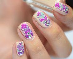 MissBellaTracey: WNAC - Dry Marble Nail Art