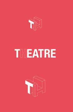TH THEATRE LOGO by raffaele gargiulo, via Behance