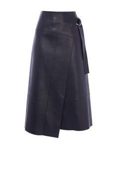 From dresses to denim, jumpsuits to jumpers, you'll find everything you need to leave feeling polished through life's every moment at Karen Millen. Midi Wrap Skirt, Midi Skirt Outfit, Leather Midi Skirt, Skirt Outfits, Work Outfits, Skirt Patterns Sewing, Leather Fashion, Petite Fashion, Curvy Fashion