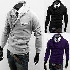 Way to dress up a hoodie.