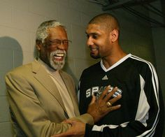 Bill Russell and Tim Duncan