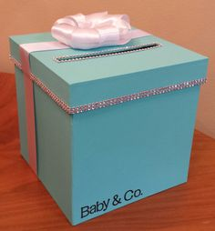 Great Card Box With Personalization For A Wedding Baby Shower Bridal Shower Or  Birthday Party