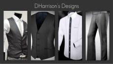Get the Look on www.dharrison.alfadesigner.com Lite White (fab #41) 100% Cotton Shirt $35 Lite Grey Wool Pant $85 Dark Charcoal Wool Vest $110
