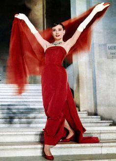 Audrey Hepburn in Funny Face, 1957.