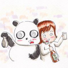 【一日一大熊猫】2017.10.9 酒まつりに行ってきました。 利き酒体験に参加してみたのだけど 5種類のお酒を飲んでみて特徴をメモして、そのメモを頼りに当てるんだけど、 これは未来の自分に文書だけで形のないものを伝えると言う、文章の訓練にならないだろうか? まずは自分に宛ててだから恥ずかしくないし。 #パンダ #利き酒