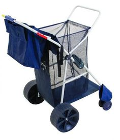 Rio Beach Wonder Wheeler Wide Beach Cart Description The Deluxe Wide Wheel Beach Cart has a weight capacity of 100 lbs. and can hold a 48 quart cooler and 4 bea Fishing Cart, Beach Wagon, Beach Cart, Travel Trailer Camping, Rv Travel, Travel Tips, Be Organized, Outer Banks Vacation, Umbrella Holder