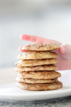 Vegan Banana Snickerdoodle Cookie Recipe // www.deliacreates.com