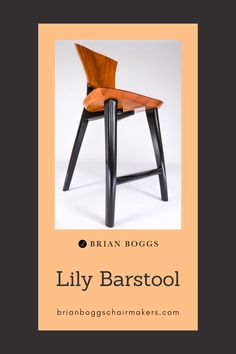 Our Lily bar stool features a sculpted seat and back to generously support the human body. The result of decades of ergonomic study, this bar stool assists your body as it finds perfect posture. Adaptable to a low counter or custom bar, this contemporary stool adds a sophisticated element to any dining space. #chair #home #lilychair #BrianBoggs #woodchair #furniture #woodwork #armchair #bar #barstool