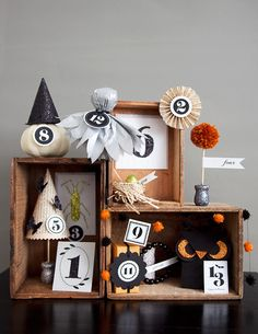 Holy cow - a whole set of cute crafts for Halloween (or anytime).