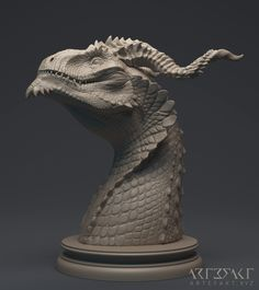 This is one of the more recent Dragon Busts I did. I am very happy with the expression of the character. This figure is going to be produced as an 11 cm resin kit. The horns will be separate from the head so there is an option of more horn variants in the future (we will see xD). The figure will be going into production via crowdfunding and that is to happen February 2017.
