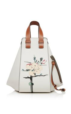 Hammock Small Printed Textured-Leather Shoulder Bag by Loewe