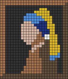 Cross Stitch Beginner, Cross Stitch Art, Cross Stitch Designs, Cross Stitching, Cross Stitch Embroidery, Cross Stitch Patterns, Diy Perler Beads, Perler Bead Art, Pixel Art Grid