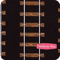Timeless Treasures Black Train Tracks Yardage SKU# C1127-BLACK