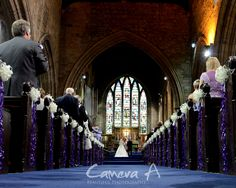 It was great to be part of this amazing wedding. The bride and groom couldn't stop smiling all day and they had a great theme of purple!