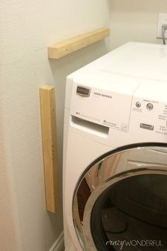 Wonderful Small Laundry Room Design Ideas With Modern: DIY Built In Washer + Dryer - Crazy Wonderful Home Improvement Projects, Laundry Mud Room, Room Organization, Washer And Dryer, Room Diy, Room Remodeling, Laundry, Bathroom Closet, Laundry Room Countertop