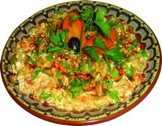 Mish-Mash - an easy, tasty traditional vegetarian Bulgarian meal: 3 tomatoes, 3 red peppers, 1 onion, 2-3 tbsp vegetable oil, 200g feta cheese, 3 eggs, parsley, salt and pepper to season. Cut all into pieces. Heat the oil in a frying pan, add the onions, then the peppers and the tomatoes and cook for 3-5 min. Add the cheese and eggs and cook for another 2-3 min. Sprinkle with parsley, salt and pepper. Hope you enjoy :-)