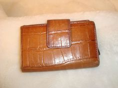 Vintage Brown Alligator Leather Bi Fold Women's Wallet W/ Coin Purse #Unbranded #Bifold