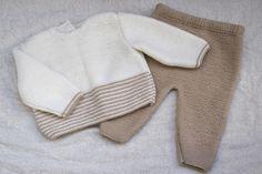 DIY Conjunto bebé: Cómo hacer jersey de lana (patrones gratis)