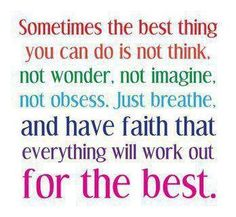 The best thing you can do