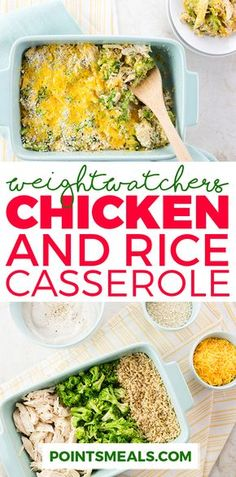 EASY CHICKEN AND RICE CASSEROLE (WEIGHT WATCHERS SMARTPOINTS)