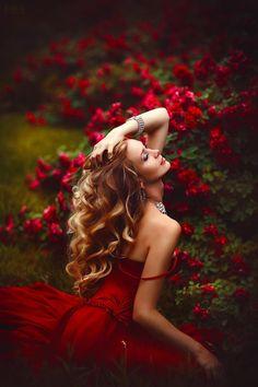 Fairytale Fashion Fantasy / karen cox.  Roses