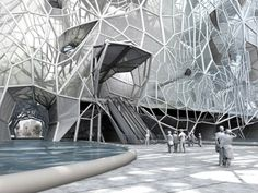 GEOtube building proposal by Faulders Studio in Dubai which would form its own skin using salt water.