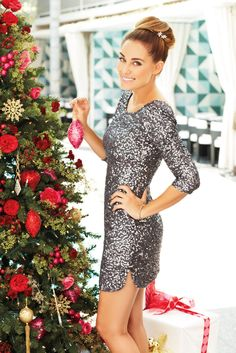 LC Lauren Conrad's New Holiday 2012 Collection // sparkly silver dress