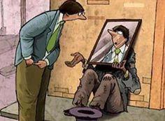Funny Spare Change Cartoon Mirror Image