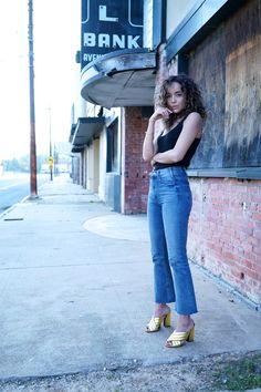 Jeans: Mother Denim. Vest/Tank: Isabel Marant. Shoes: Gucci. Choker: DIY (velvet ribbon &clasp. SO easy) Sunglasses: Miu Miu.
