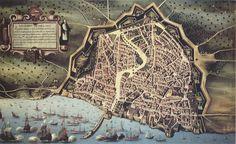 Óleo anónimo de mediados del siglo XVII basado en el plano de Garau