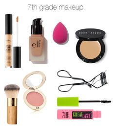 7th Grade Makeup by camryn629 on Polyvore featuring polyvore beauty Bobbi Brown Cosmetics Maybelline e.l.f. Jane Iredale Smashbox MAC Cosmetics