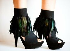 <3 <3 #TuesdayShoesday Feather ankle cuffs Halloween-Stylee