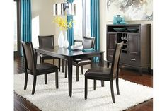 Dark Brown Trishelle Dining Room Table View 4