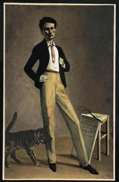Balthus,1935 painted a self-portrait entitled The King of Cats.
