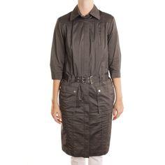 HUGO BOSS BLACK LABEL Hemdkleid Gr. DE 36 Grau Damen Kleid Dress Robe Kleid | eBay