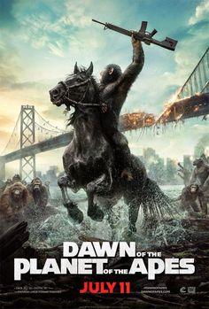 """Novos cartazes do filme """"Planeta dos Macacos: O Confronto"""" http://cinemabh.com/imagens/novos-cartazes-do-filme-planeta-dos-macacos-o-confronto"""