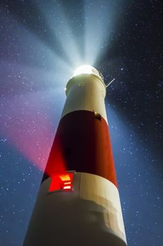 The Dorset night sky over Portland Bill lighthouse Portland Dorset, Jurassic Coast, Photography Workshops, Coast Guard, Photo Location, Night Skies, The Great Outdoors, Tower, Around The Worlds