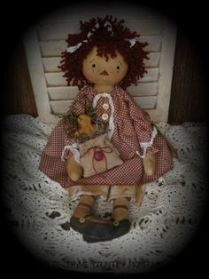 Primitive Raggedy Ann Doll #NaivePrimitive